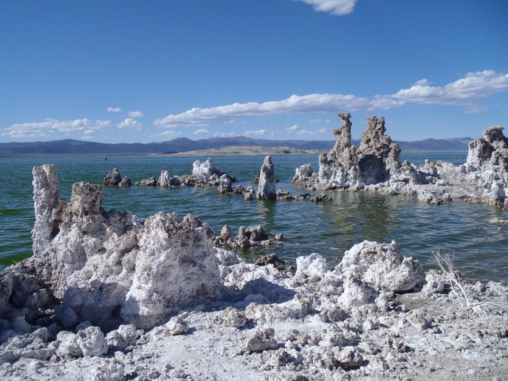 Salt Stacks and Mountains of Mono Lake Nevada